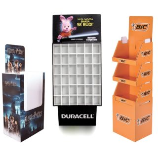 Tray floor display stands