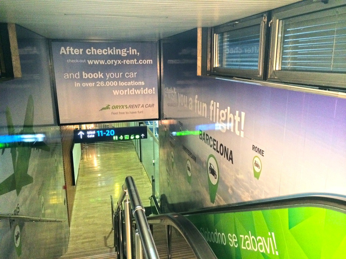 Making Printing And Installation Of Advertising Areas At The International Airport In Zagreb Print Grupa